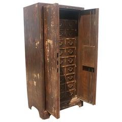 Vintage European Industrial Steel Cabinet