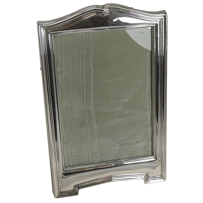 Antique English Sterling Silver Picture Frame, 1911 For Sale