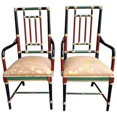 Pair of Brighton Pavilion Style Armchairs, 20th Century