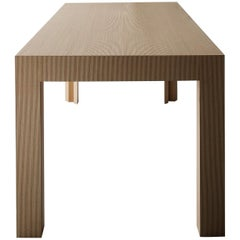 Contemporary Striped Pattern Wood Table by Sebastiano Bottos, Italia