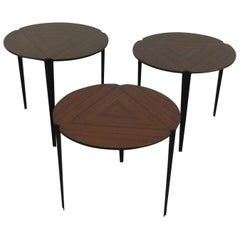 Osvaldo Borsani for Tecno Set of 3 Nesting Tables Model T61, 1950s