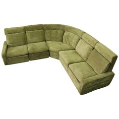 Walter Knoll Modular High Back Green Sectional Sofa