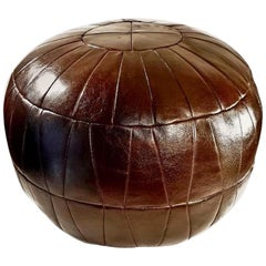 De Sede Patchwork Brown Leather Ottoman