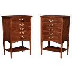 Pair of Mahogany Music Chests