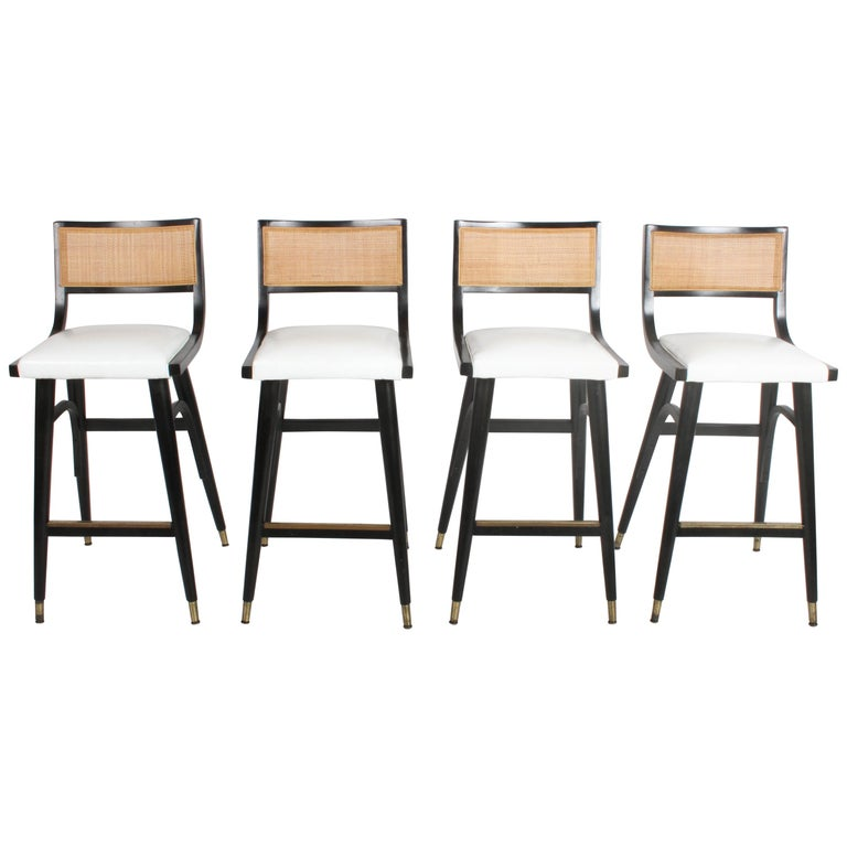 Two Sets of Four Midcentury Bar Stools For Sale