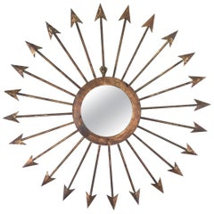 Gilt Iron Arrow Mirror