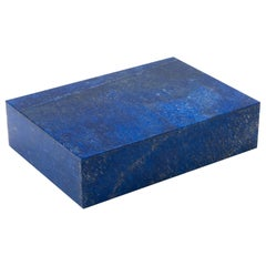Lapis Lazuli Box with Hinged Lid