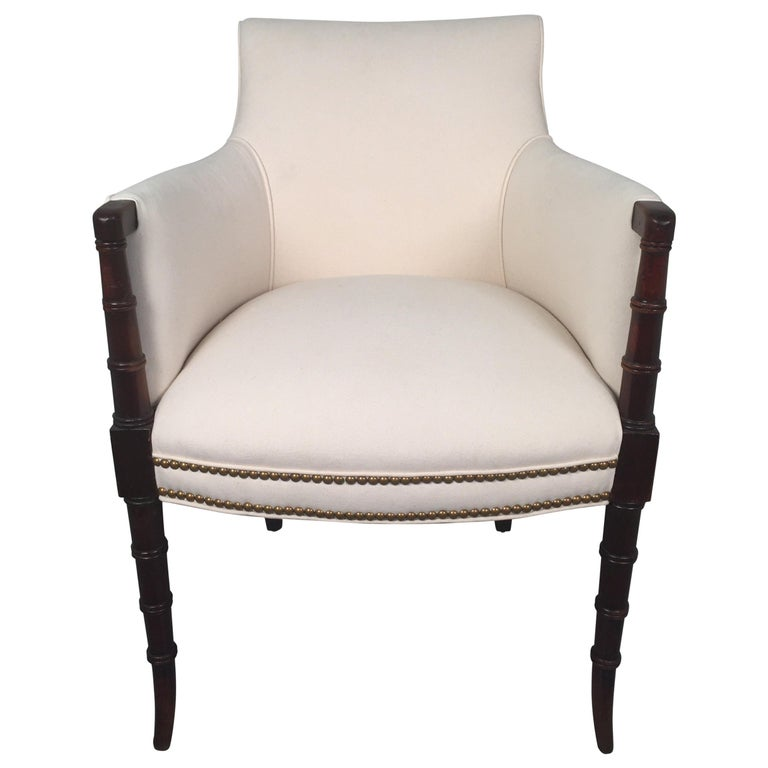 19th Century English Regency Style Armchair For Sale