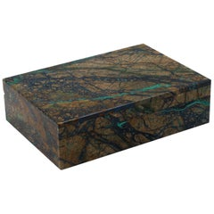 Azurite Box with Hinged Lid