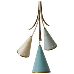 Lovely Mid-Century Modern Sputnik Chandelier or Pendant Lamp, 1950s, Germany
