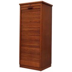 Eeka Oak Cabinet Drawers with Tambour Door
