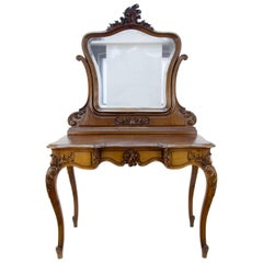 Louis XV Style French Walnut Dressing Table