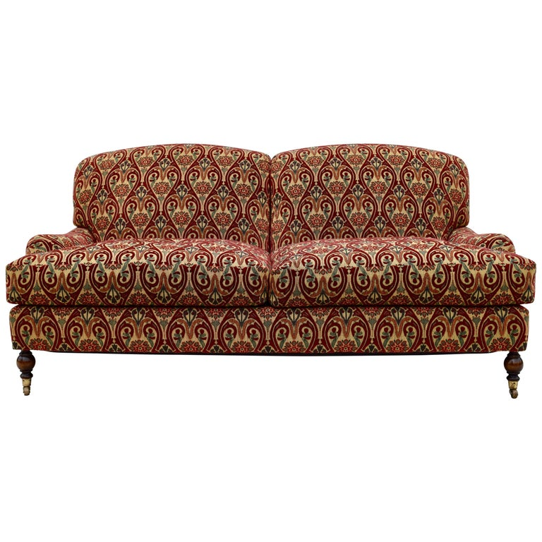 Brunschwig & Fils English Sofa on Casters For Sale