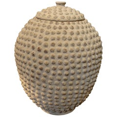 Textured Lidded Pair of Vases, Africa, 1950s