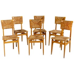 Set of 6 Chairs Model C Marcel Gascoin, France, 1950