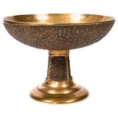 Midcentury 'Brutalist' Bronze Footed Bowl
