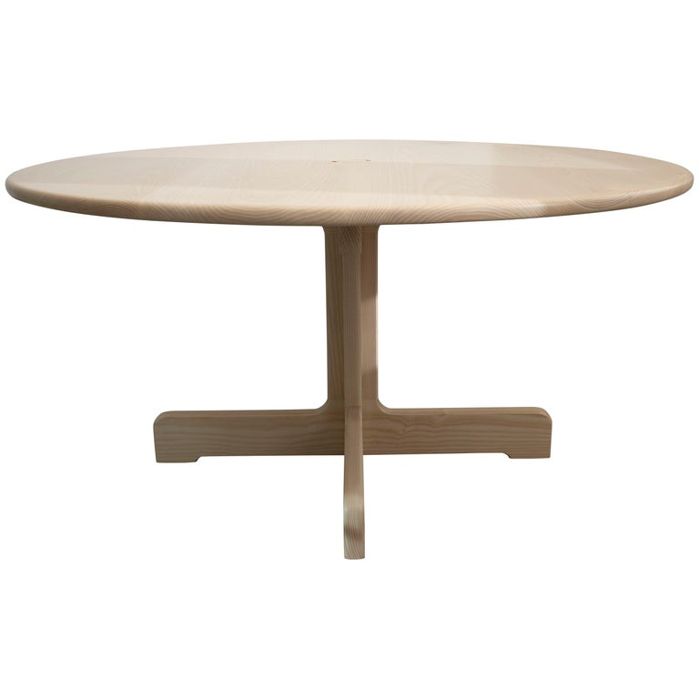 'Physalia' Round Table in Bleached Ash For Sale