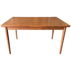 Danish Modern Teak Draw Leaf Table