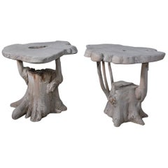 Charming Organic Tree Root Table or Garden Seat