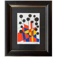 Alexander Calder circa 1971 Signed Artist Proof Lithograph Balloons