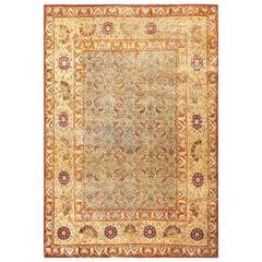 Small Rare Antique Persian Kerman Rug