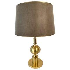 Gilt Metal Table Lamp, 1970s
