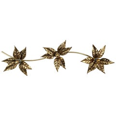 3 Flowers Wall Sconce by Willy Daro, 1970s