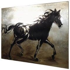 Vintage Modern Horse Painting