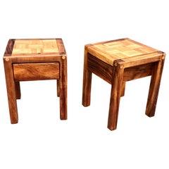 California Design Rustic End Tables