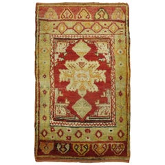 Antique Turkish Red Rug