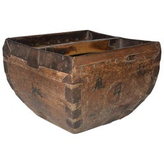 Antique Chinese Grain Measure Basket