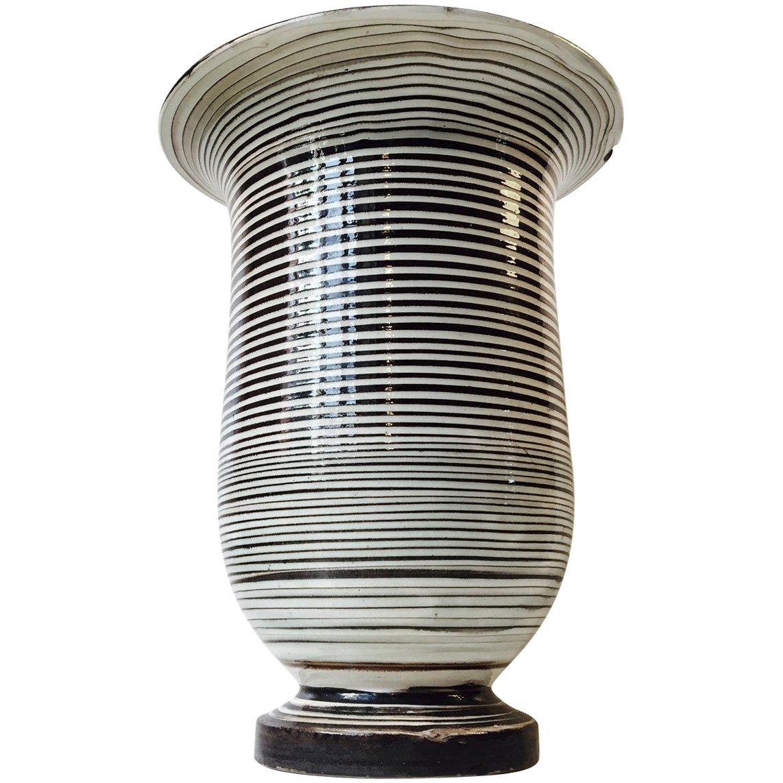 Monumental Ceramic Floor Vase by Herman August Kähler, Denmark, 1920s
