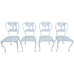 Molla Dining Chairs Figural Cast Aluminum