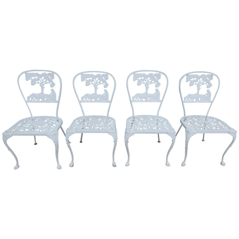 Molla Dining Chairs Figural Cast Aluminum For Sale