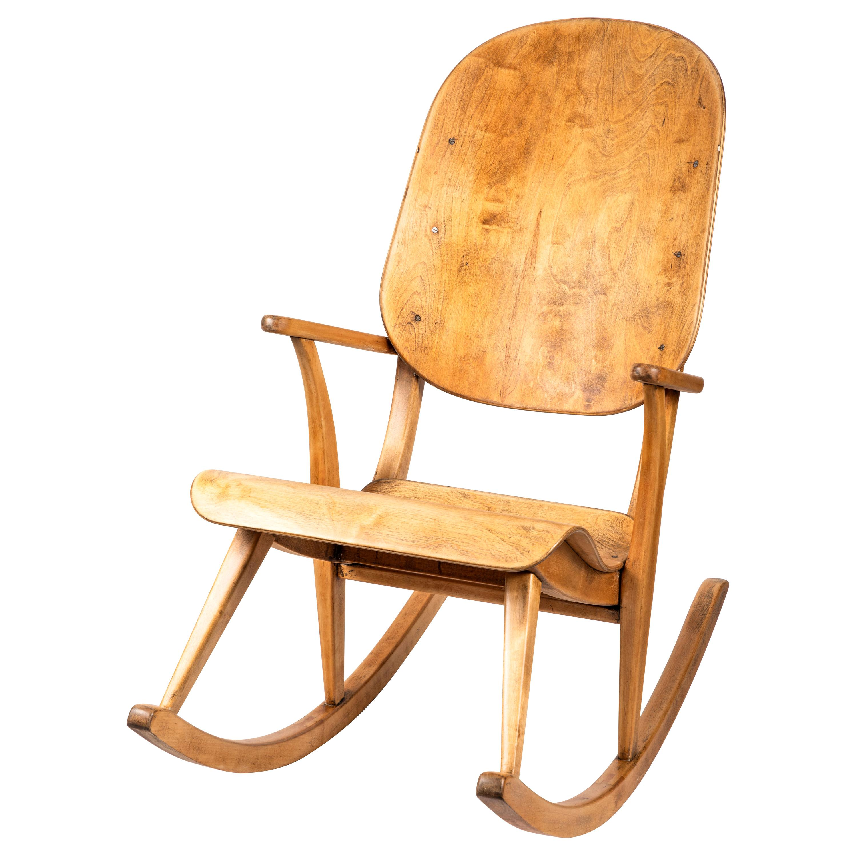 Rare 1940s Rocking Chair by Ilmari Tapiovaara