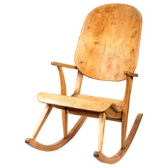 Rare 1940s Rocking Chair by Ilmari Tapiovaara