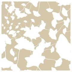 Hand-Screened Maidenhair Wallpaper in Caramel Colorway Sample