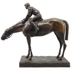Jockey on His Horse, G. Ferrari, Italy, 19th Century