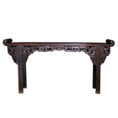 19th Century Chinese Hardwood Provincial-Style Altar Table