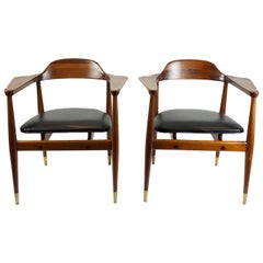 Pair of armchairs by Charles Allen