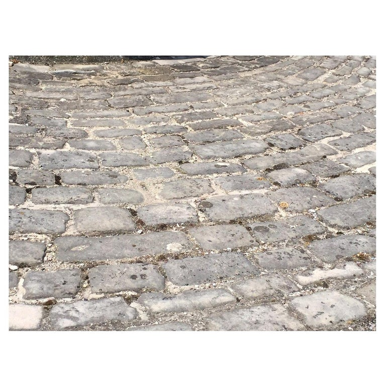 Authentic French Antique Cobblestone 17th Century, Paris, France For Sale