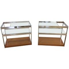 Pair of Midcentury Merrow Associates Bar Carts