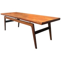 Danish Midcentury Teak 'Surfboard' Style Coffee Table