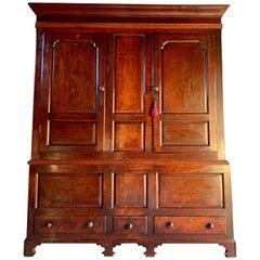 Antique 18th Century George III Oak Livery Cupboard, circa 1780
