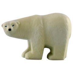 Lisa Larson for Gustavsberg, Polar Bear in Glazed Stoneware