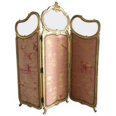 Louis XV Style 19th Century French Giltwood Screen