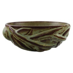 Axel Salto for Royal Copenhagen, Stoneware Bowl Modeled in Organic Shape