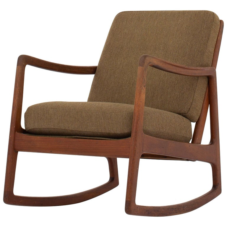 Rocking Chair By Ole Wanscher For Sale At 1stdibs