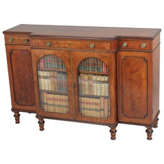 George IV Small Mahogany Breakfront Side-Cabinet