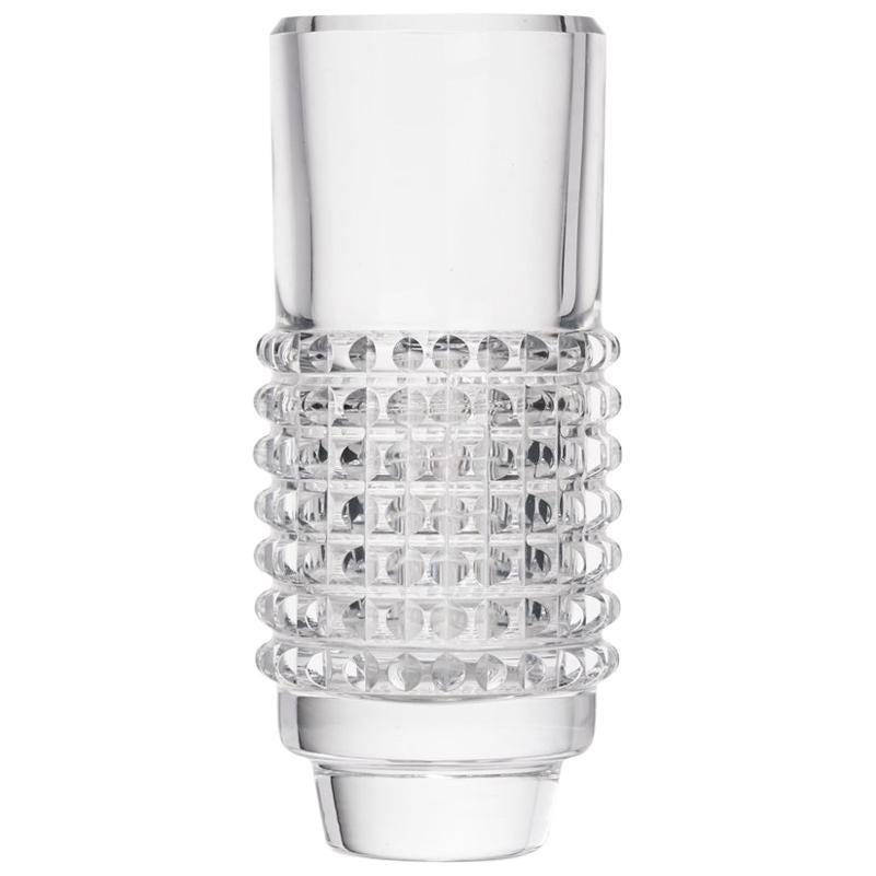 Vintage Bengt Edenfalk Skruf Glass Cylindrical Corona Vase, circa 1960